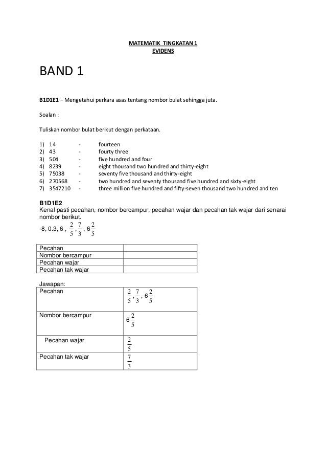 Soalan Latihan Matematik Tingkatan 1 Menarik 100 Soalan Matematik Ting1 Gambarsurat Com Skoloh