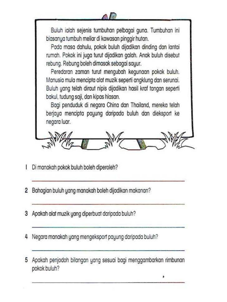 Soalan Peperiksaan Pertengahan Tahun Bahasa Inggeris Tahun 6 Terhebat Lembaran Kerja Bahasa Melayu Tahun 2 Adib Pinterest Education Skoloh