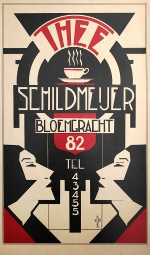 thee schildmeijer art deco 1930s original vintage poster listed on antikbar co uk