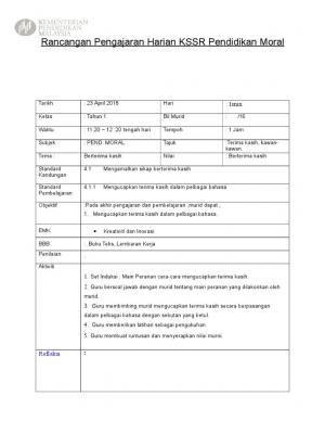 Download Rpt Pendidikan Moral Tahun 1 Menarik Rancangan Tahunan Moral Tahun 1 Kssr 2011 Documents Of Muat Turun Rpt Pendidikan Moral Tahun 1 Yang Dapat Di Muat Turun Dengan Senang