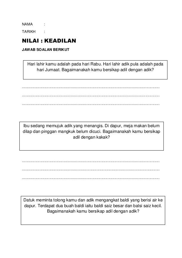 Download Rpt Pendidikan Moral Tahun 2 Bernilai Nilai Keadilan Band 4 Moral Thn 2 Skoloh