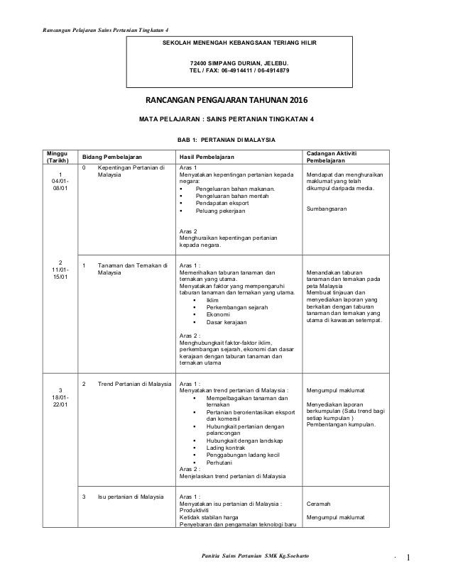 Download Rpt Pertanian Tingkatan 4 Bermanfaat Rancangan Pelajaran Spn T4 Of Senarai Rpt Pertanian Tingkatan 4 Yang Dapat Di Cetak Dengan Segera
