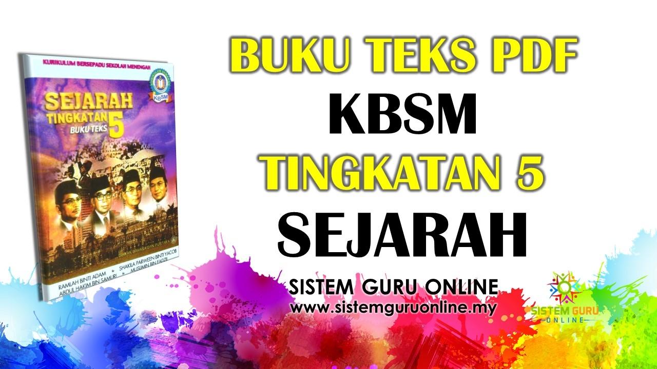 Download Rpt Sejarah Tingkatan 3 Berguna Buku Teks Pdf Kbsm Tingkatan 5 Sejarah Skoloh