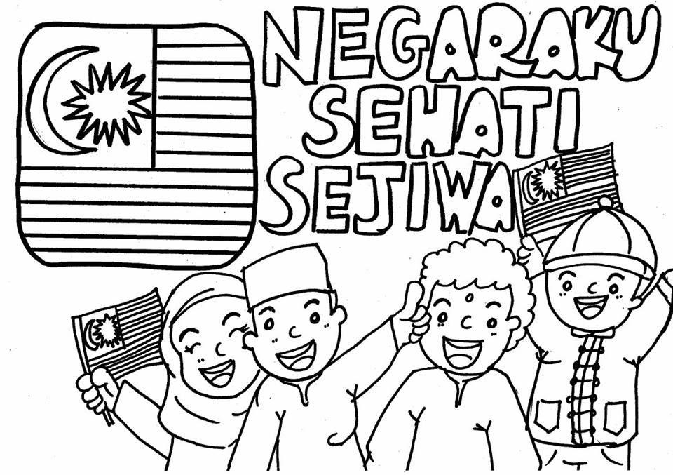 Gambar Mewarna Prasekolah Menarik Koleksi Bahan Mewarna Hari Kemerdekaan Free Download Mykssr Com