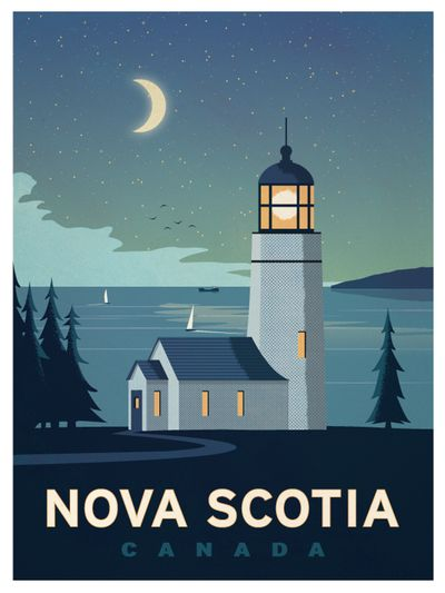 Retro Poster Meletup Image Of Vintage Nova Scotia Poster Z Pinterest Nova Scotia