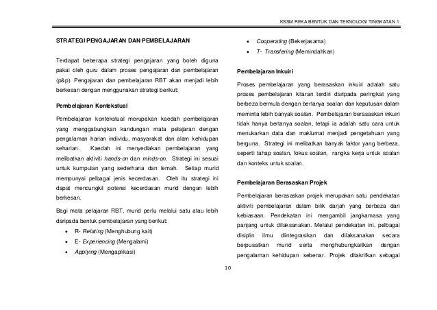 Download Dskp Reka Bentuk Dan Teknologi Tingkatan 1 Berguna Dskp Rbt Tingkatan 1