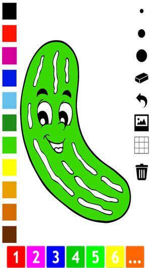 Gambar Untuk Pertandingan Mewarna Kanak-kanak Hebat Aktif Buku Mewarna Buah Buahan Dan Sayur Sayuran Untuk Kanak Kanak