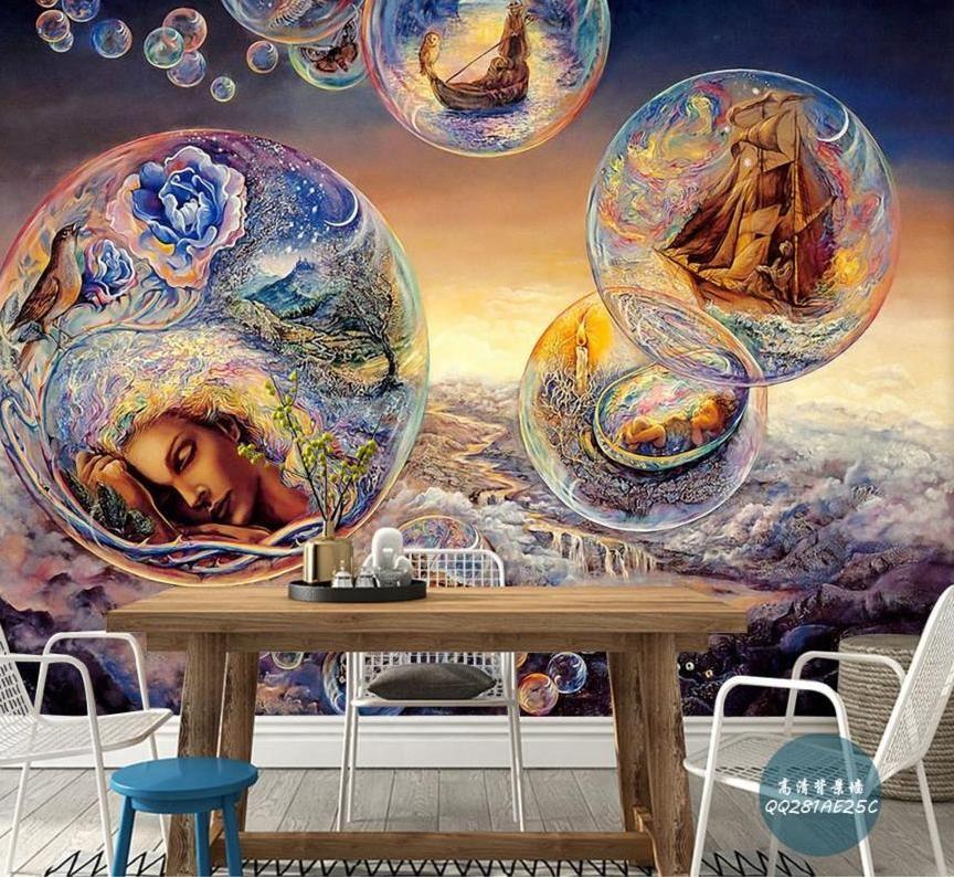 Kertas Kerja Lukisan Mural Penting Foto Vintage Mitos Eropa Wallpaper Untuk Ruang Tamu Wallpaper 3d