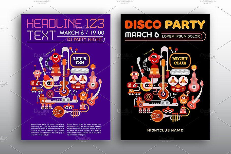 Background Poster Corel Draw Baik Nightclub Disco Party Vector Poster Graphics Creative Market