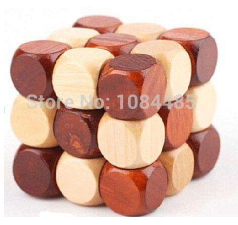 klasik kubus kayu ular teka teki untuk orang dewasa dan anak anak ukuran 6 6 6 cm
