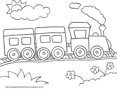 Gambar Mewarna Kereta Bermanfaat Aneka Gambar Mewarnai Gambar Mewarnai Kereta Api Untuk Anak Paud