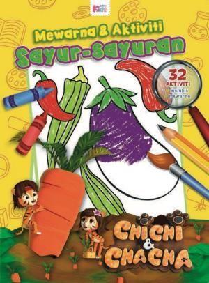 kertas mewarna omar hana bernilai grup buku karangkraf chichi chacha warna aktiviti sayur sayuran