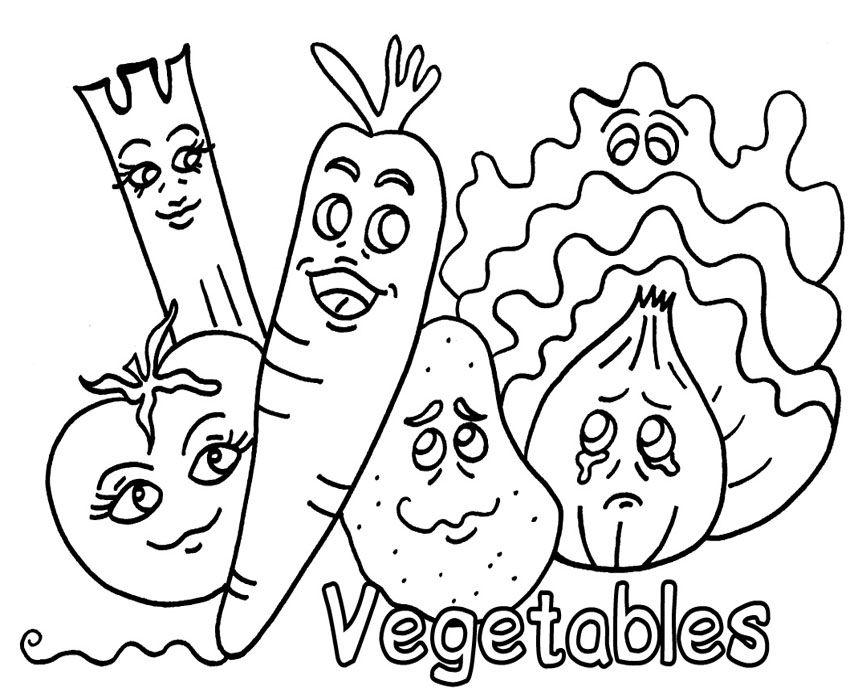 lembaran mewarna sayur sayuran