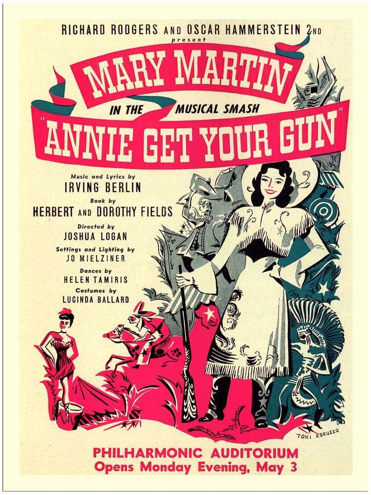 annie get your gun is a musical with lyrics and music by irving berlin and a book by dorothy fields and her brother herbert fields