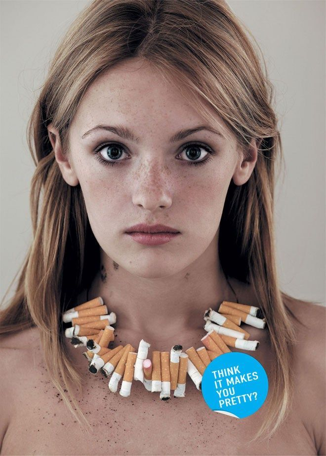 penses tu que cela te rend plus jolie pub anti tabac no smoking ads