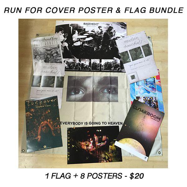poster tube flag pack 8 posters 1 flag