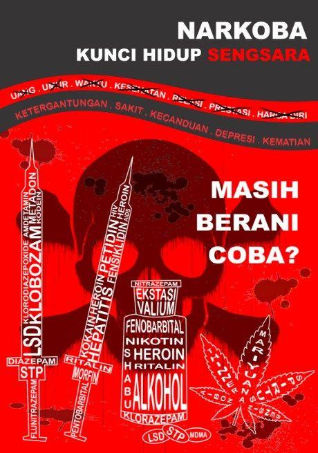 gambar poster anti narkoba lucu