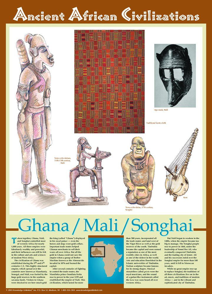 amazon com ghana mali songhai ancient african civilizations poster prints posters prints