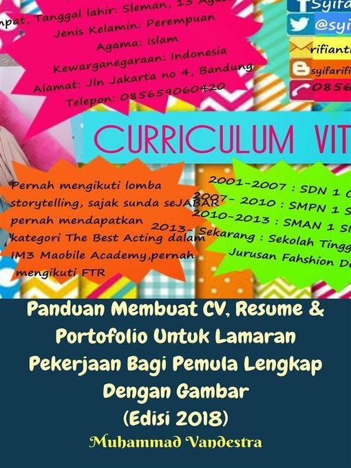 title details for panduan membuat cv resume portofolio untuk lamaran pekerjaan bagi pemula lengkap