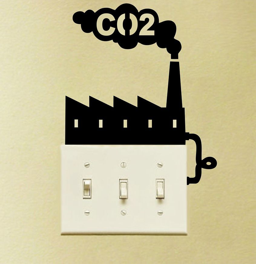 besar ukuran keren lingkungan tema co2 sakelar vinil dinding stiker menghemat energi rumah ringan sakelar seni