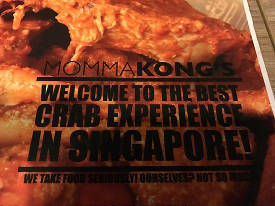 Singapore Poster Penting butter Crab Picture Of Momma Kong S Singapore Tripadvisor