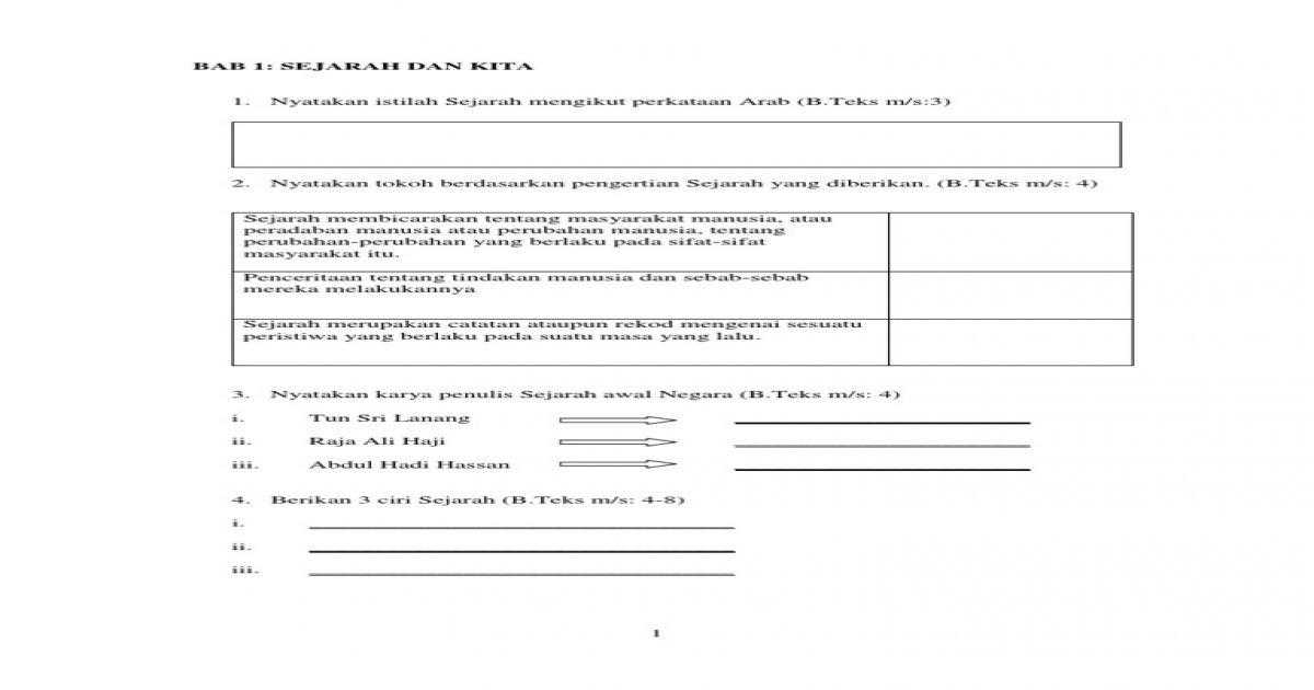 2 ppt powerpoint a teka silang kata sejarah tingkatan 3 bab 1 hebat soalan latihan sejarah tingkatan 1 pdf document