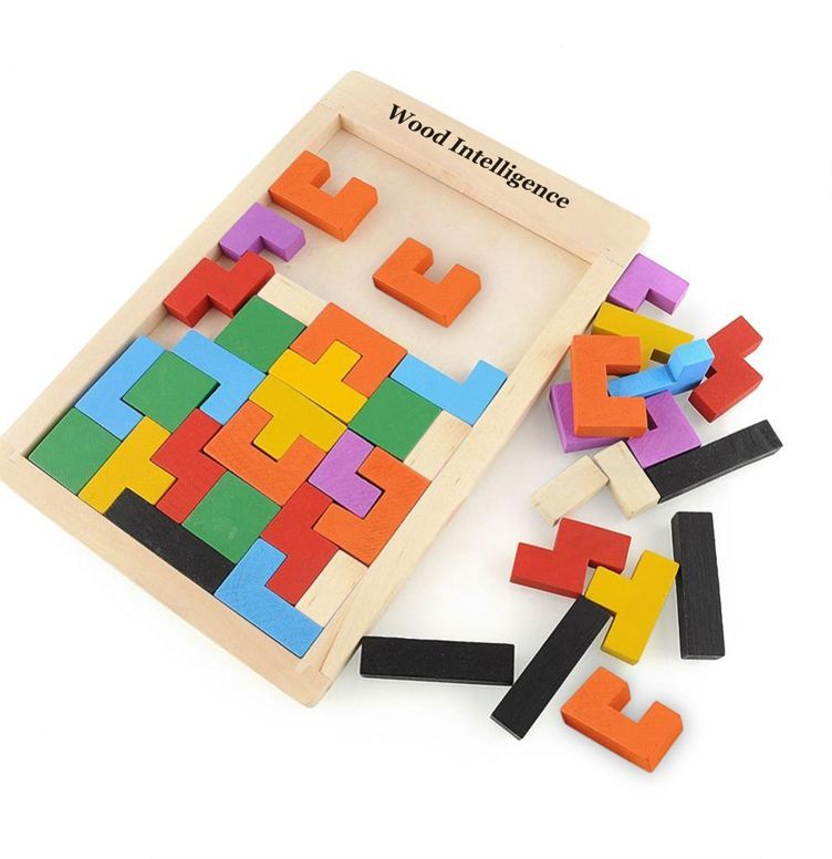 teka teki kayu mainan untuk anak anak tangram teka teki penggoda otak kayu tetris mainan anak