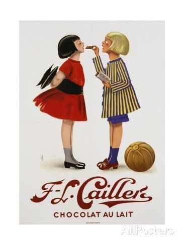 f l cailler s chocolat au lait chocolate advertisement poster giclee print at allposters com