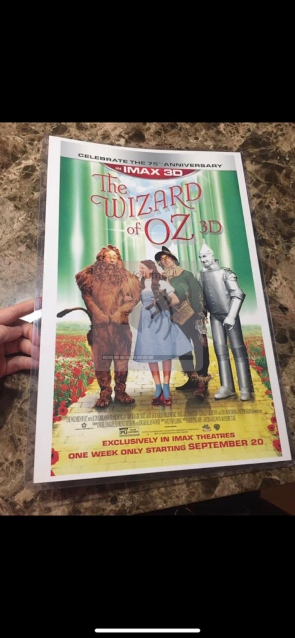 used wizard of oz movie poster sealed in plastic for sale in sayreville letgo