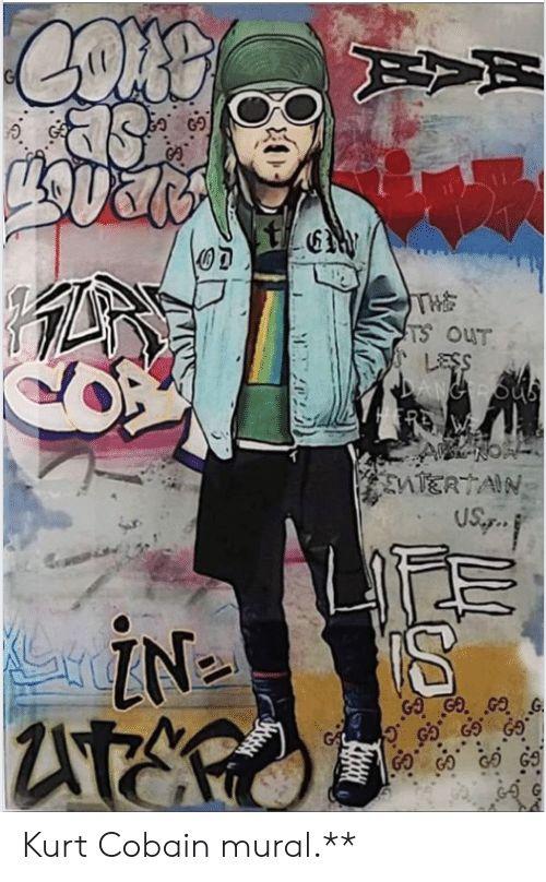 kurt cobain cobain and kurt 0d in kurt cobain mural