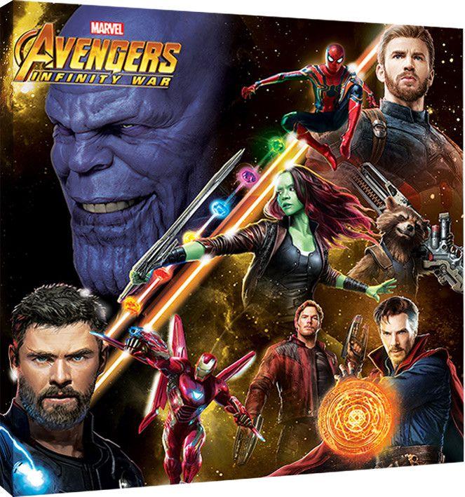 Avenger Infinity War Poster Penting Obraz Na Platna Avengers Infinity War Space Montage Na Posters Cz