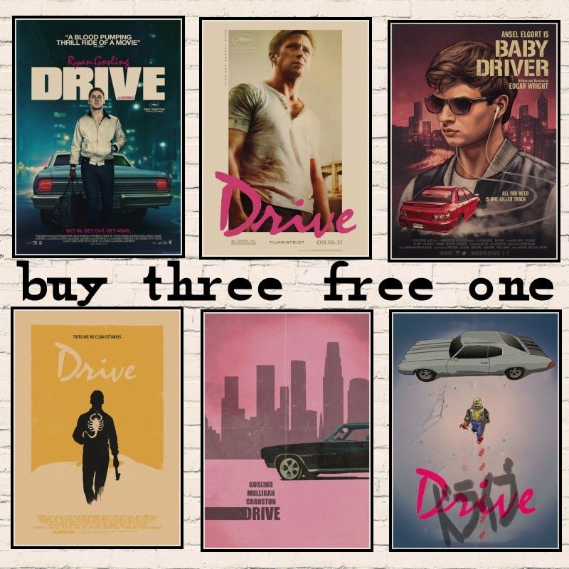 new vintage poster drive ryan gosling movie poster vintage home decor wall sticker retro poster