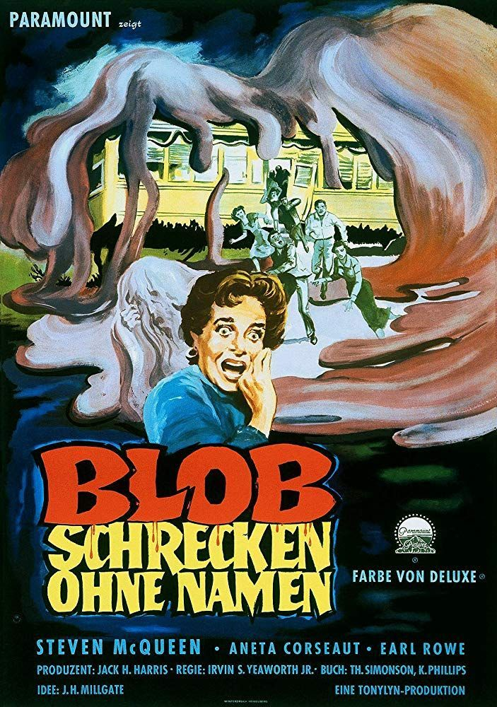 the blob 1958 scary monsters and super creeps in 2019 horror posters movie poster art movie posters