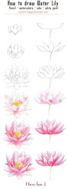 ummuwidadcara lukis a 131 ca mo dibujar y pintar waterlily por scarlett aimpyh melukis muka coretan bunga