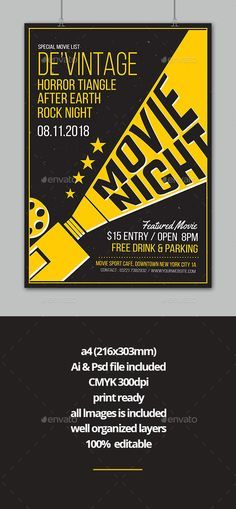 movie night flyer template psd ai illustrator download https graphicriver