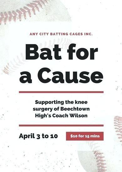 Charity Poster Terbaik High School Baseball Donation Letter Sample Fundraising Template