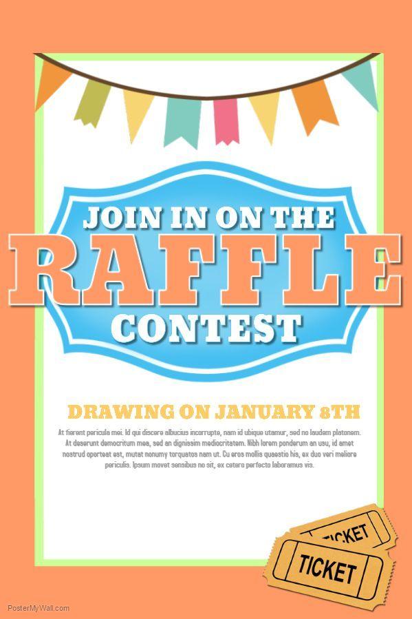 raffle flyer contest social media post template raffle flyer template