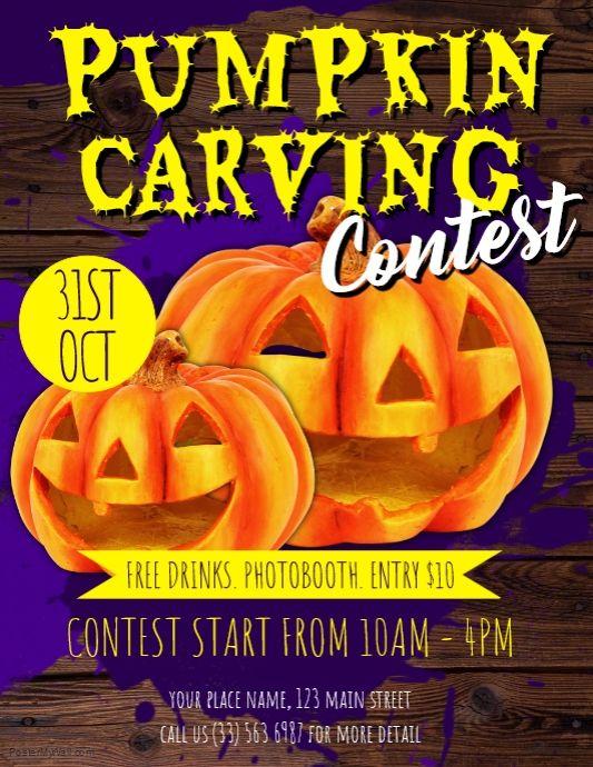 contest flyer template pumpkin carving contest flyer template