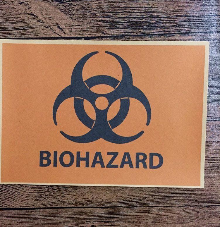 kualitas tinggi kraft kertas ctf 171 kembali ke masa depan biohazard wall art vintage poster gambar