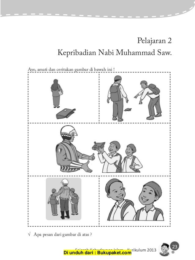 23 sejarah kebudayaan islam kurikulum 2013 pelajaran 2 kepribadian nabi muhammad saw
