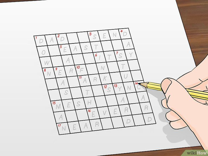 gambar berjudul make crossword puzzles step 4
