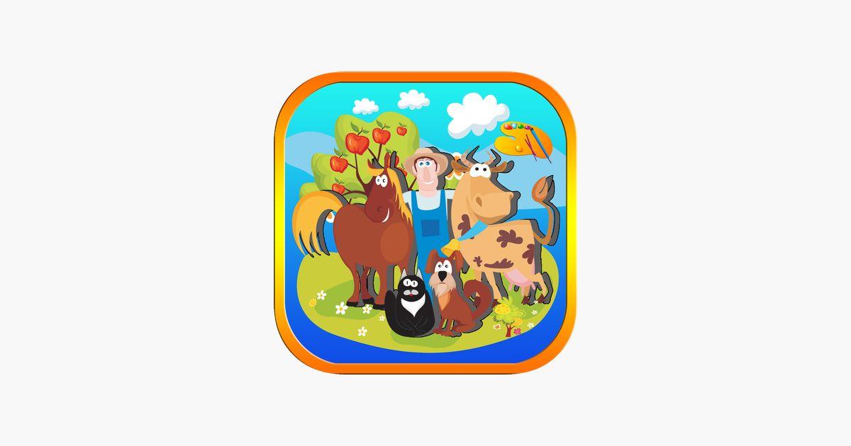 haiwan farm mewarnai teka teki di app store