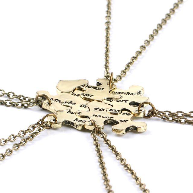 colsen persahabatan kalung set 5 pcs terbaik teman kalung wanita berpisah hati teka teki pendents
