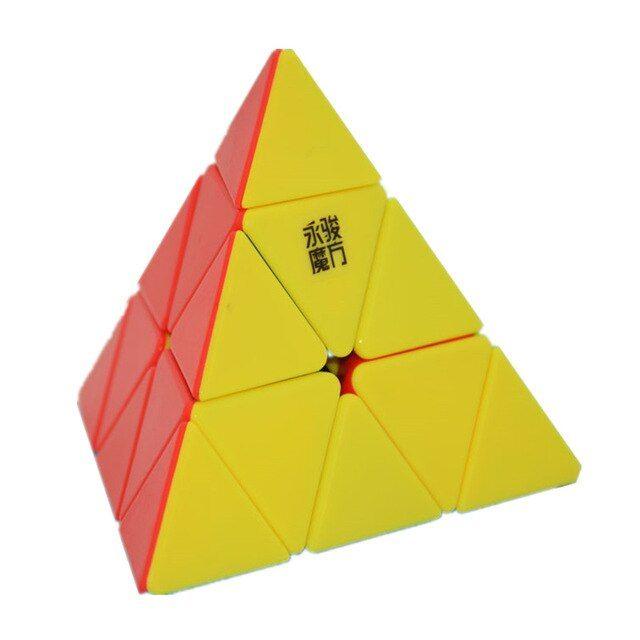 yj yongjun 3x3x3 magic cube segitiga teka teki piramida kecepatan mainan pendidikan khusus hadiah mainan