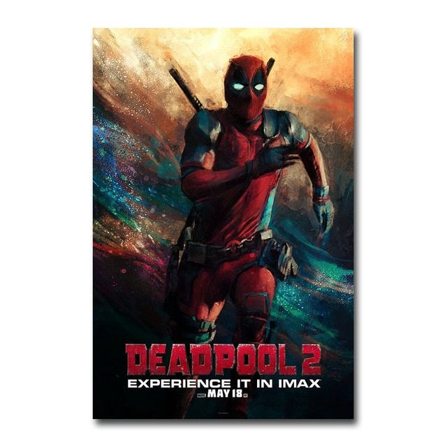 deadpool 2 superheroes movie silk poster wall art prints painting