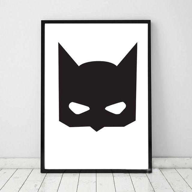 animal mask kanvas seni cetak poster yang indah kelelawar desain dinding gambar lukisan poster untuk anak