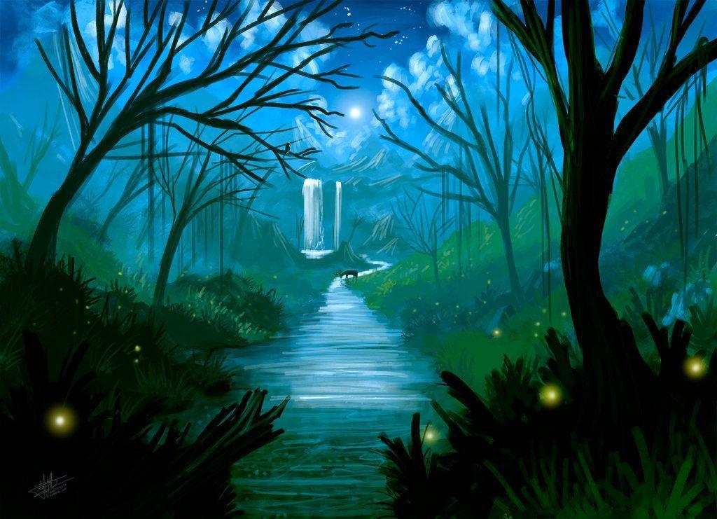 gambar mewarna pemandangan kampung hebat psv kertas 2 spm pemandangan sungai di dalam hutan