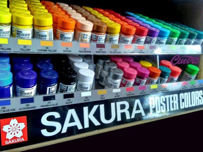 sakura poster color cat poster 15ml promo murah