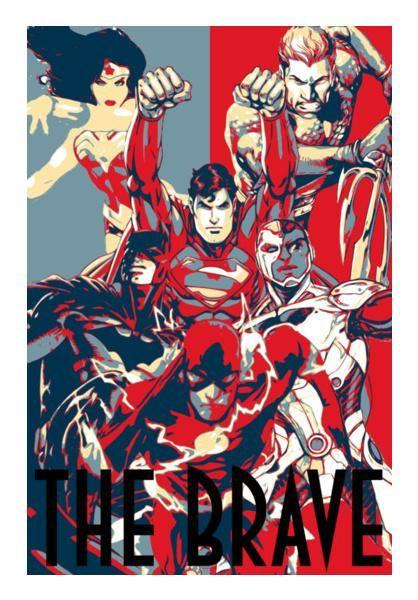 justice league the brave wall art artist linearman