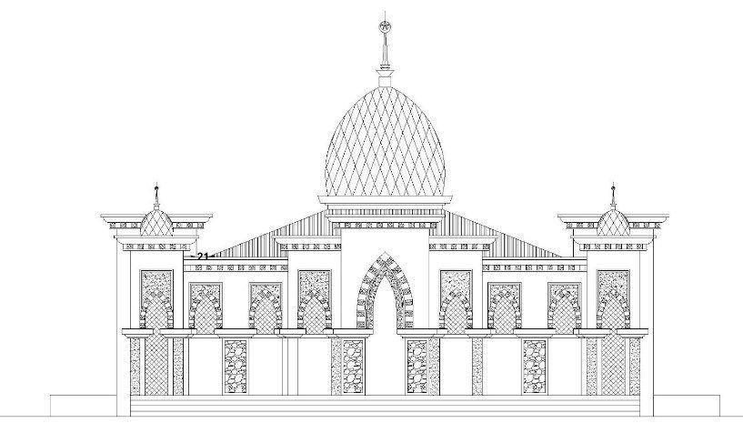 Kertas Mewarna Masjid Terhebat A 50 Contoh Gambar Sketsa Yang Mudah Gambar Mewarnai